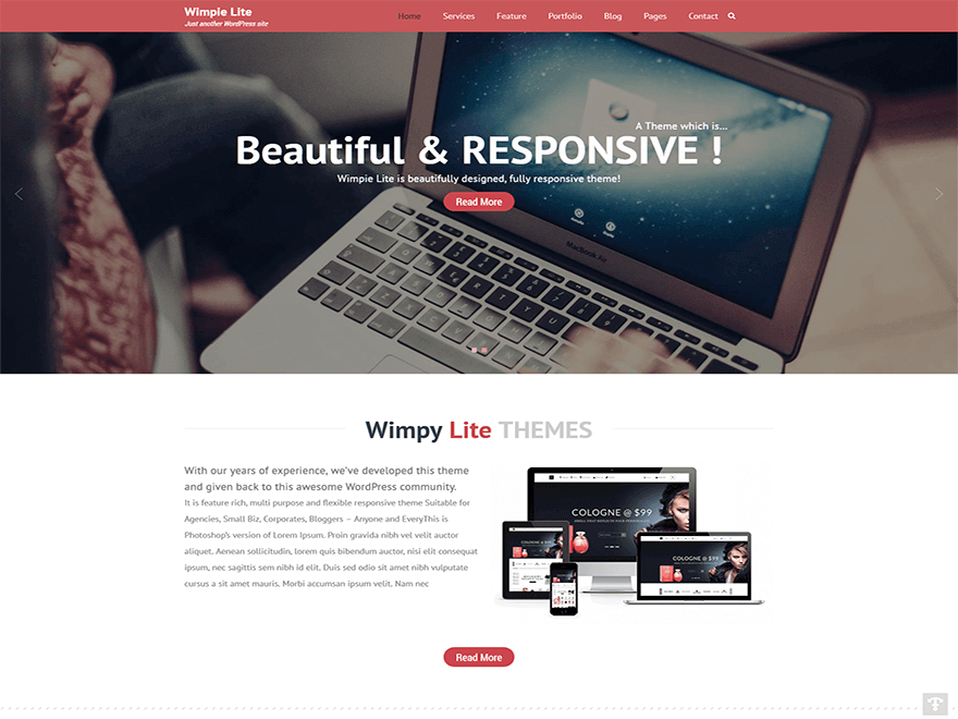 wimpie lite - 15+ Best Free WordPress Portfolio Themes 2019