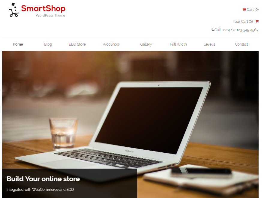 SmartShop - 17+ Responsive Free eCommerce WordPress Themes for 2019