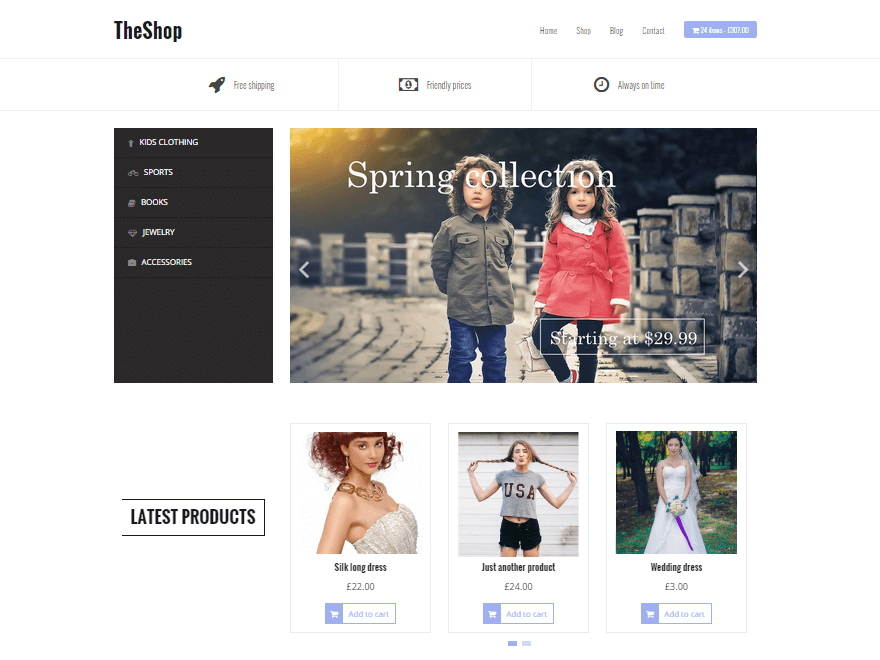 TheShop - 17+ Responsive Free eCommerce WordPress Themes for 2019