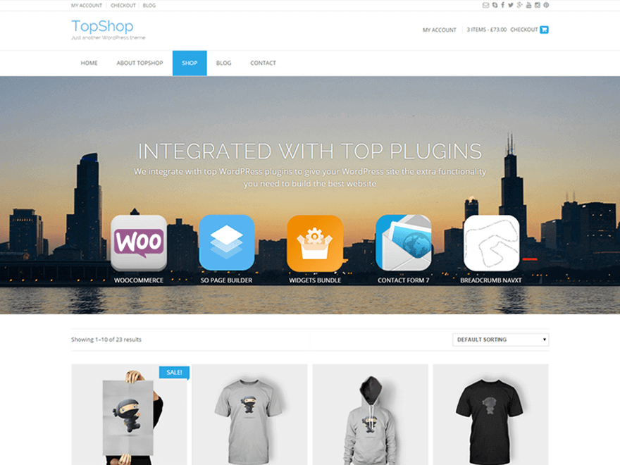 TopShop - 17+ Responsive Free eCommerce WordPress Themes for 2019