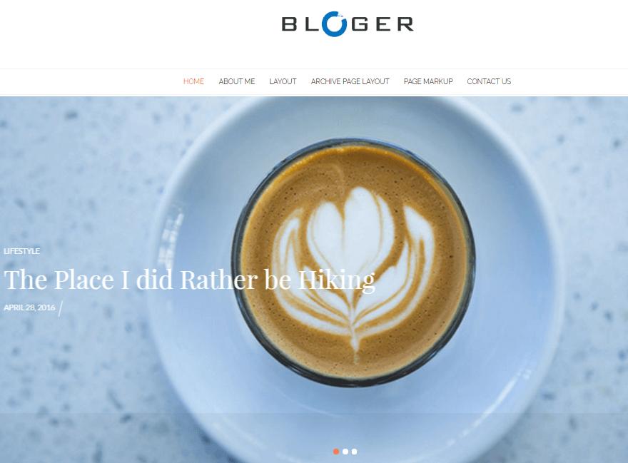 bloger - 11+ Best Free WordPress Themes June 2016 - WPAll Club