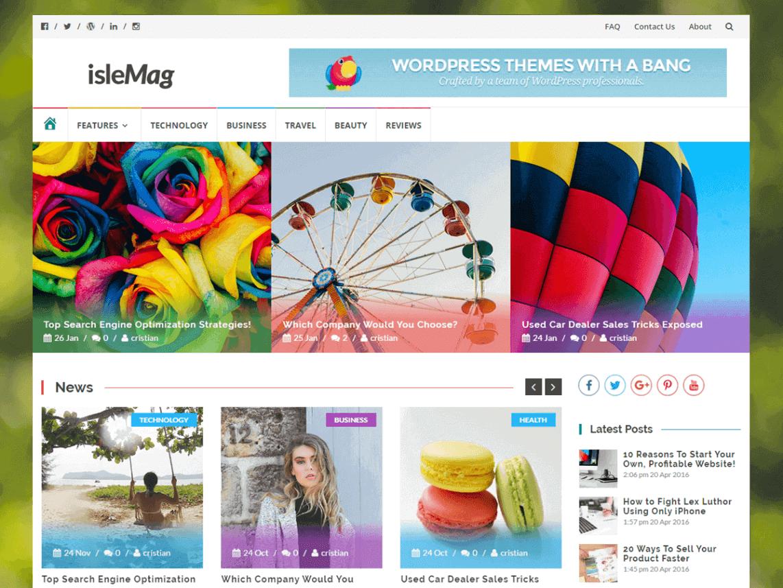islemag - 11+ Best Free WordPress Themes June 2016 - WPAll Club