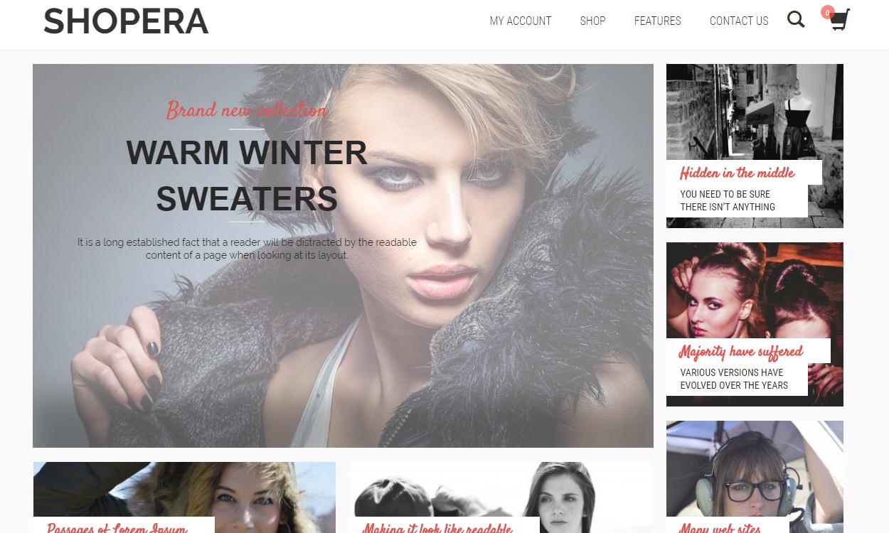 shopera - 17+ Responsive Free eCommerce WordPress Themes for 2019