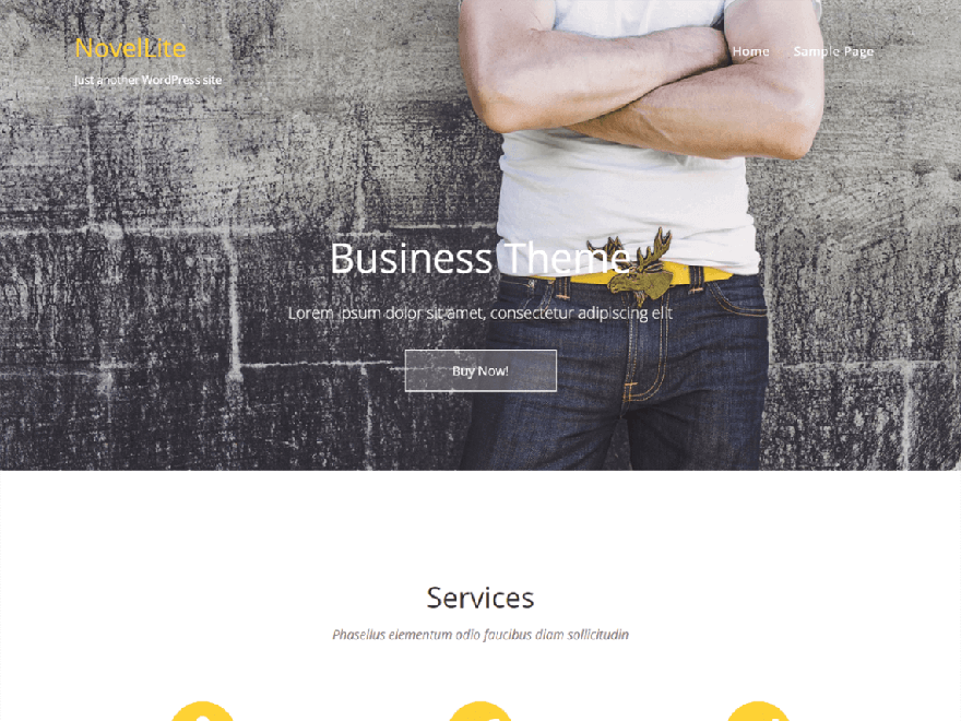 novellite - 21+ Best Free One Page WordPress Themes and Templates 2019
