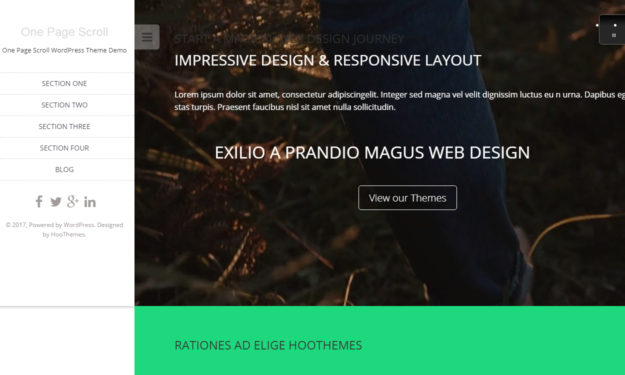 one page scroll 1 - 21+ Best Free One Page WordPress Themes and Templates 2019