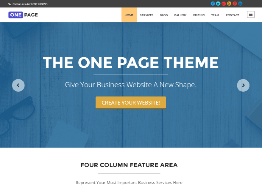 one page - 11+ Best Free Responsive WordPress Themes January 2017