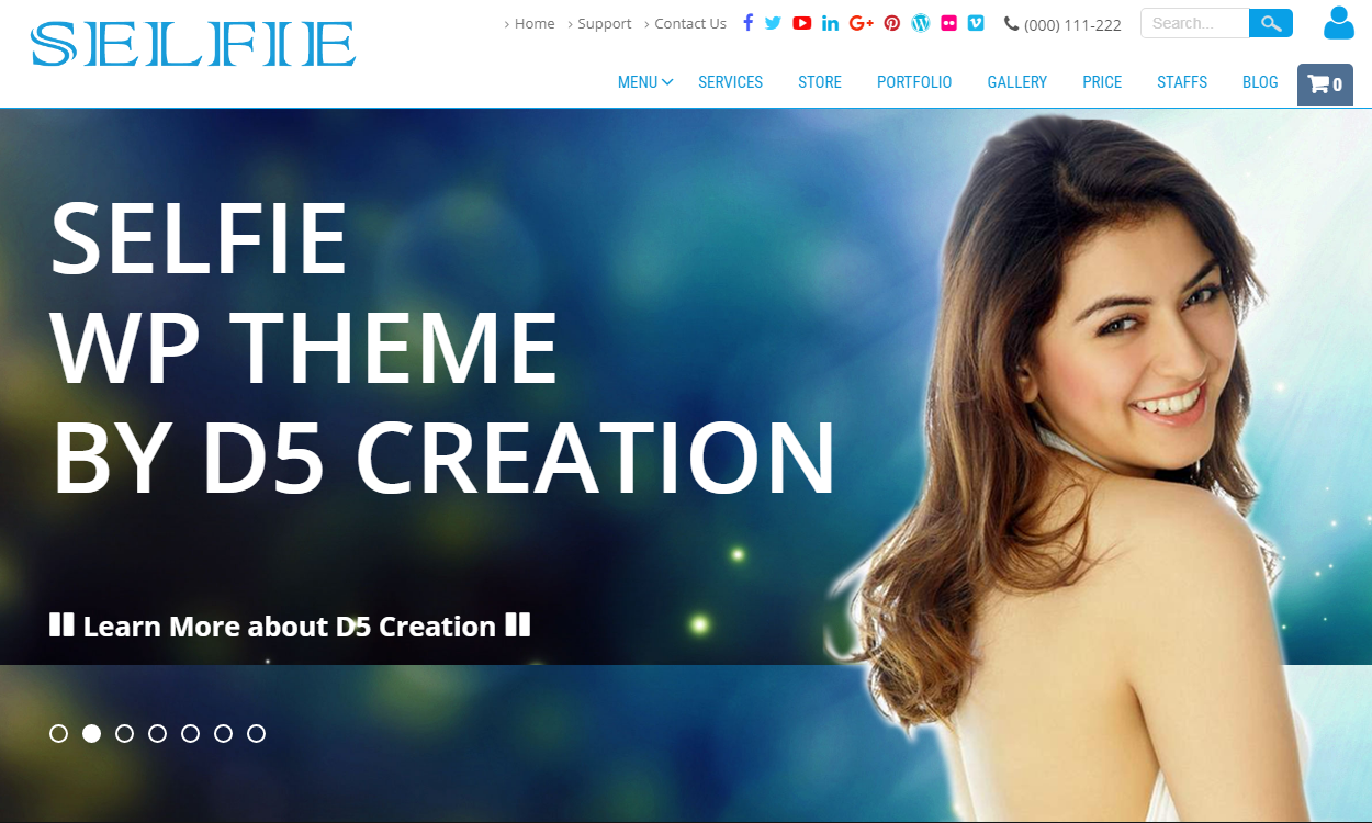 selfie 1 - 21+ Best Free One Page WordPress Themes and Templates 2019