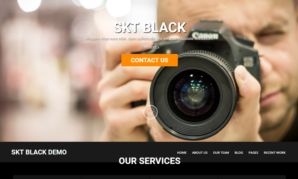 skt black 2 - 21+ Best Free One Page WordPress Themes and Templates 2019
