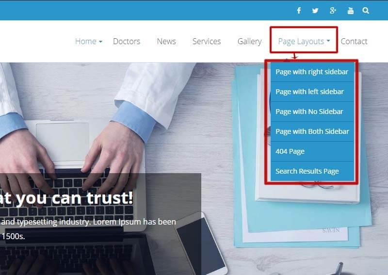 Archive page sidebar options EightMedi Lite - Feature-rich Free Responsive WordPress Health & Medical Theme - EightMedi Lite