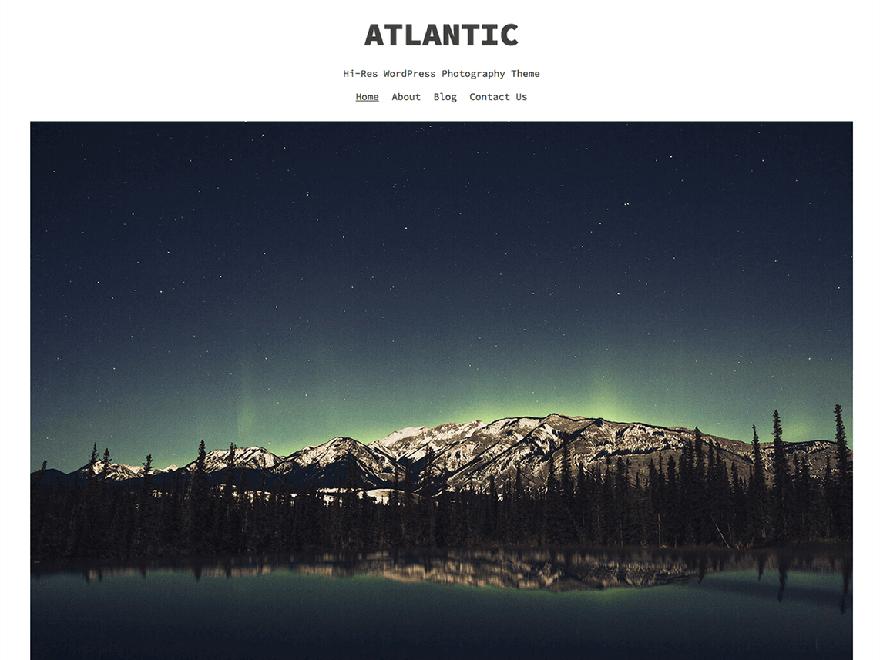 Atlantic - 25+ Best Free Photography WordPress Themes & Templates 2020