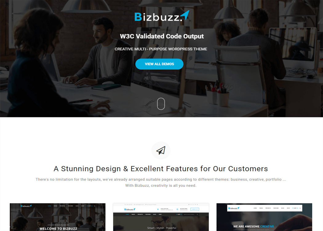 BizBuzz WordPress Business Theme - 35+ Best Premium WordPress Themes and Templates 2019 [UPDATED]
