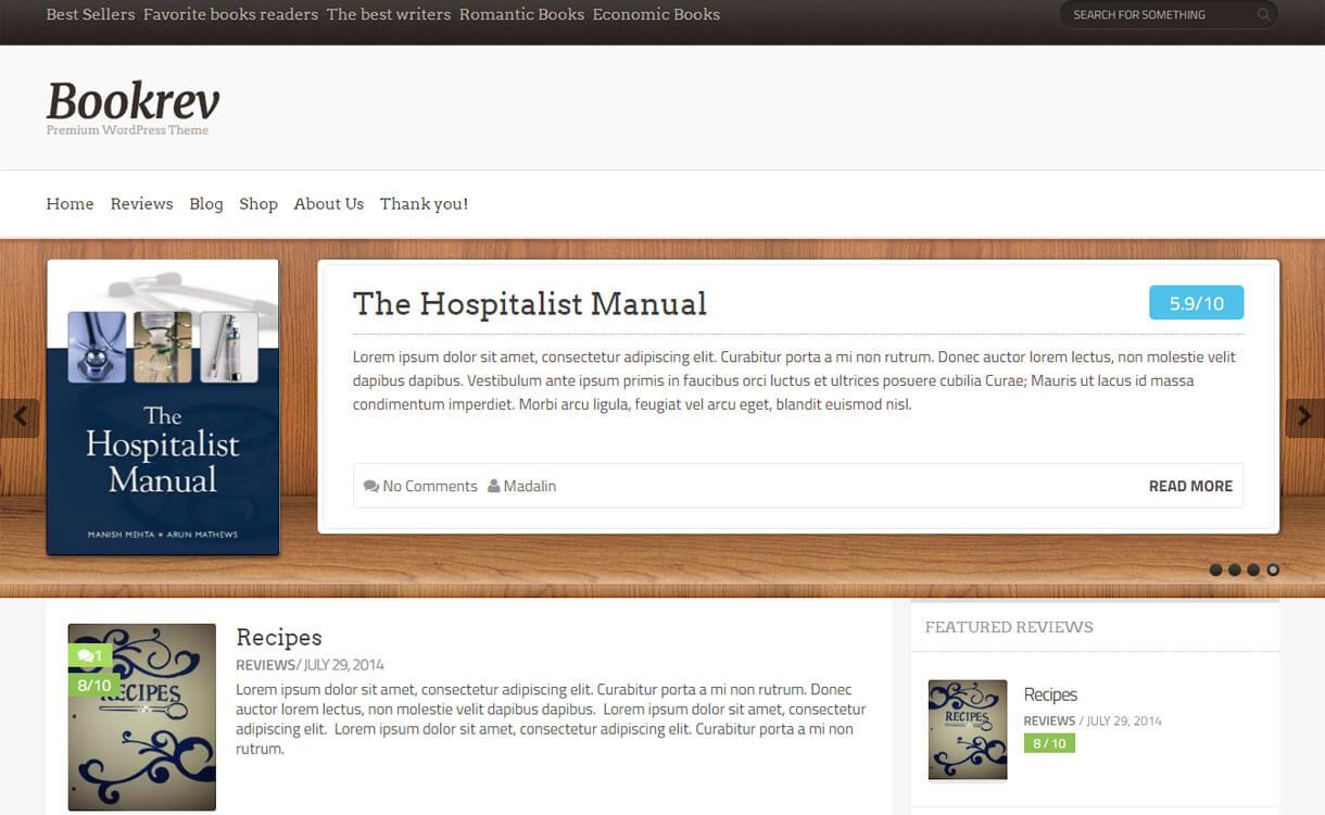 BookRev: Premium Book Review WordPress Theme