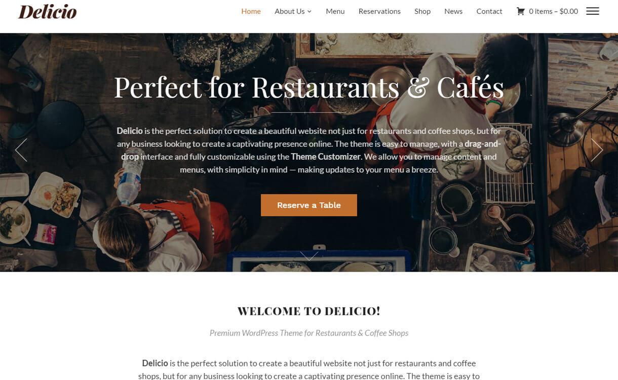 Delicio: Premium Food & Restaurant WordPress Theme