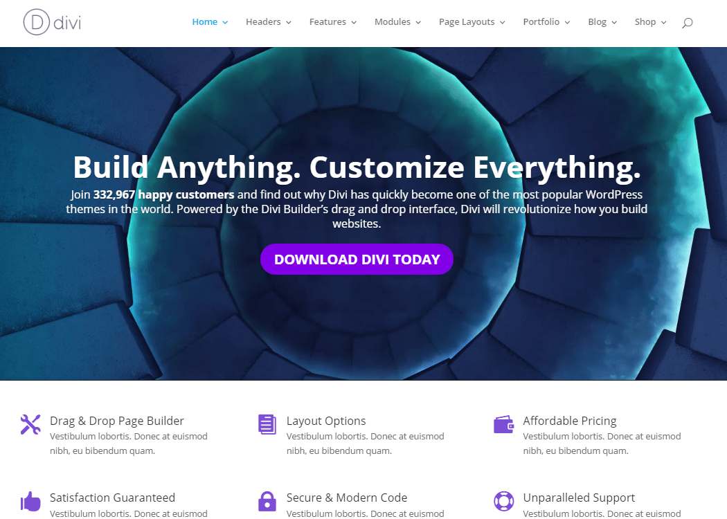 Divi WordPress Multipurpose Theme - 35+ Best Premium WordPress Themes and Templates 2020[UPDATED]