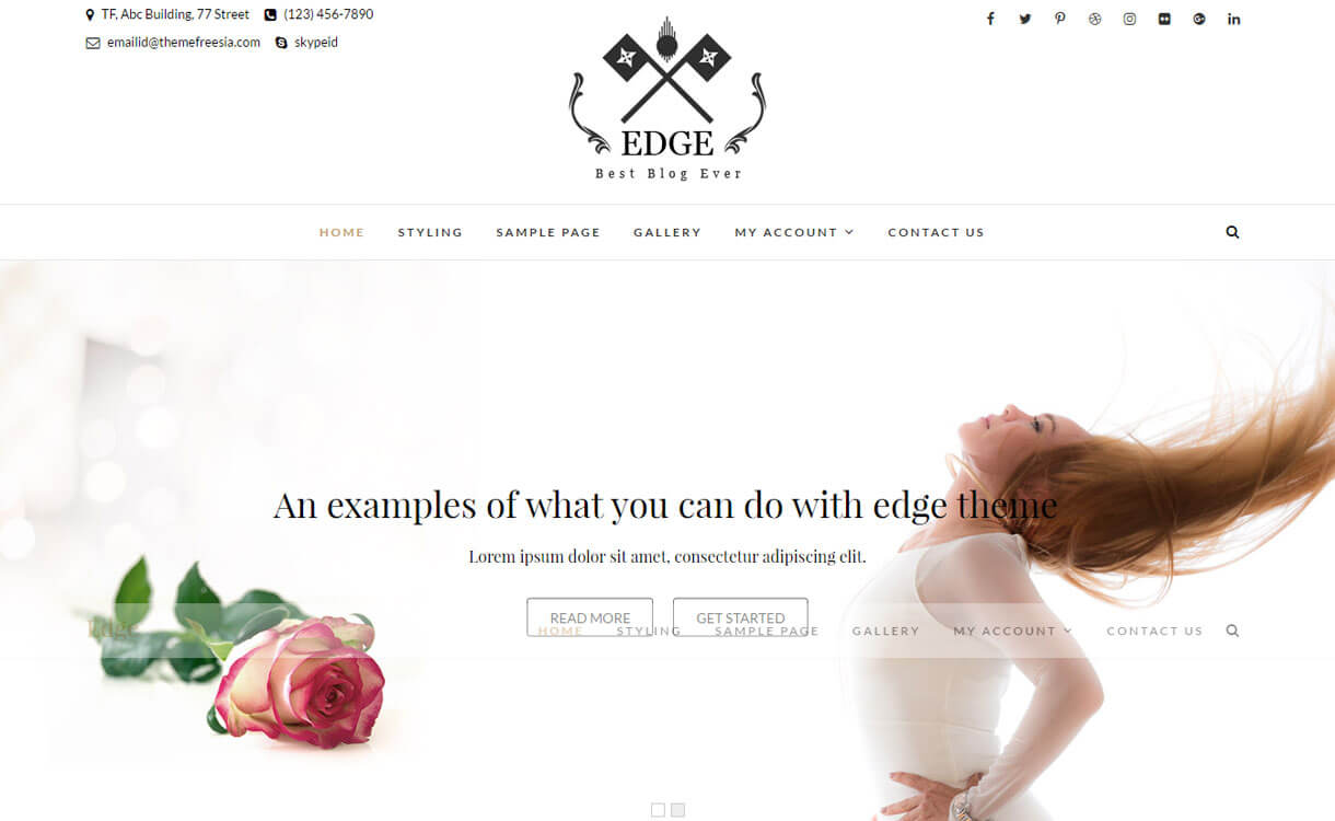 edge-free-WordPress-theme