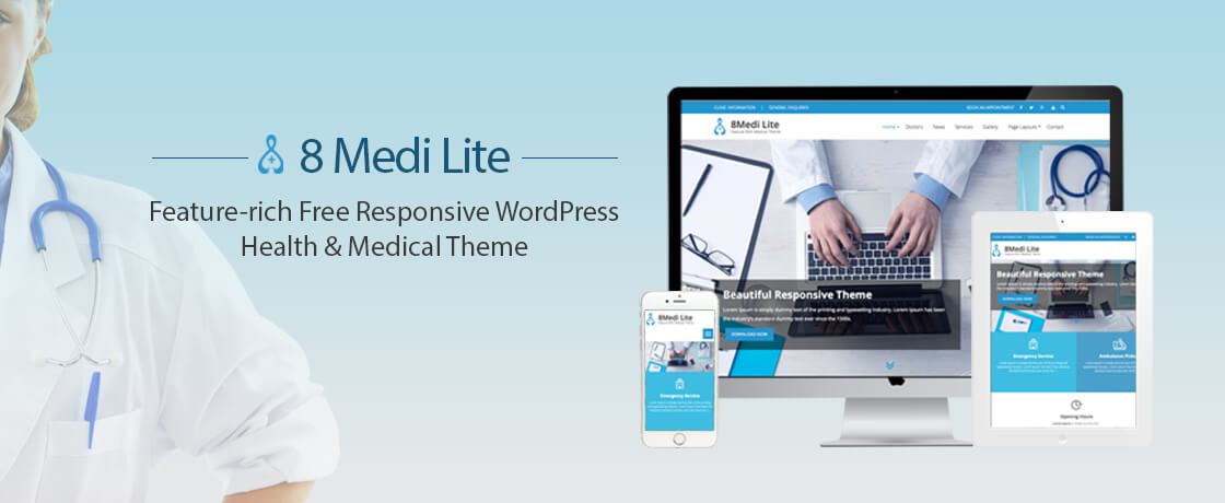EightMedi Lite - Free WordPress Medical Theme