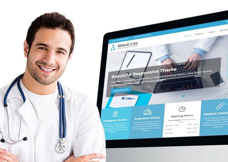EightMedi Lite Free WordPress Theme for Doctors - Feature-rich Free Responsive WordPress Health & Medical Theme - EightMedi Lite