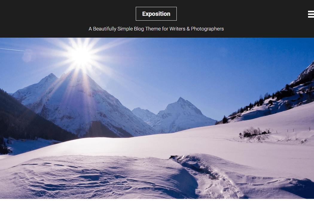 Exposition WordPress Blog Theme 1 - 35+ Best Premium WordPress Themes and Templates 2019 [UPDATED]