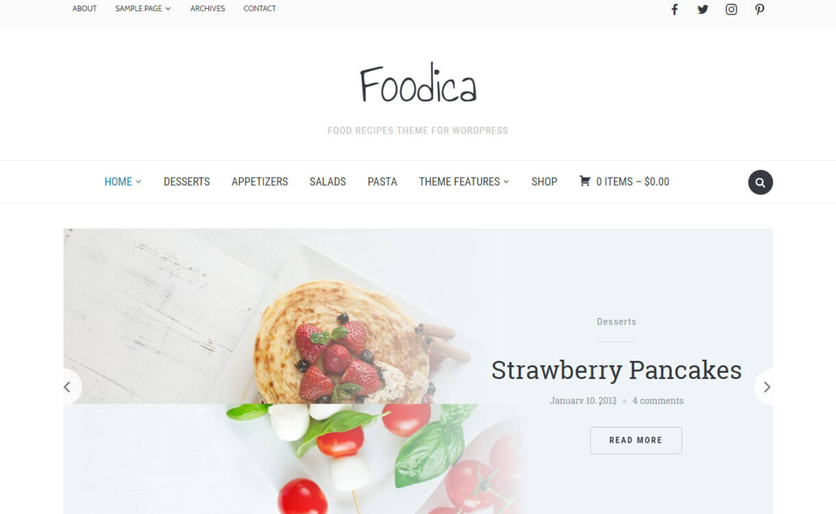 Foodica - Premium WordPress Food Recipe Theme
