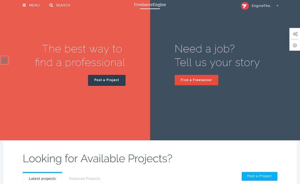 FreelanceEngine - Premium WordPress Freelance Marketing Theme