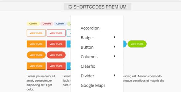 IG Shortcodes - Premium WordPress Theme