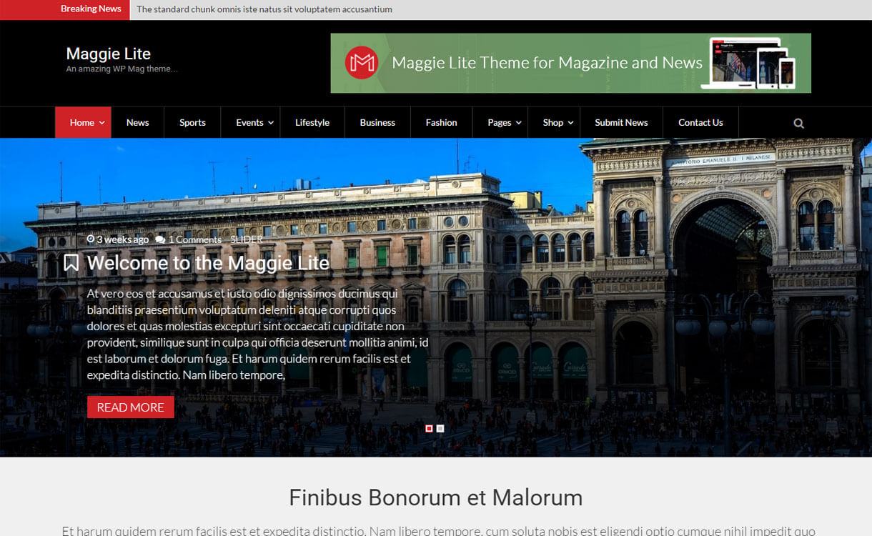 maggie-lite-free-WordPress-Theme
