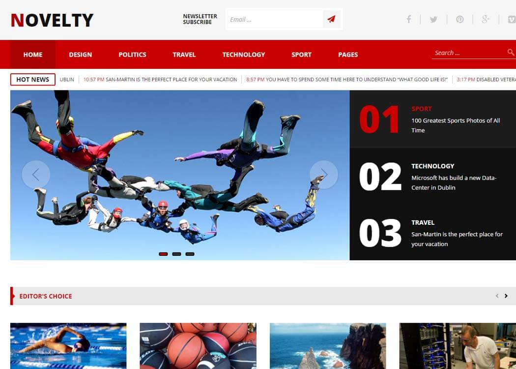 Novelty WordPress News Magazine Theme - 35+ Best Premium WordPress Themes and Templates 2020[UPDATED]