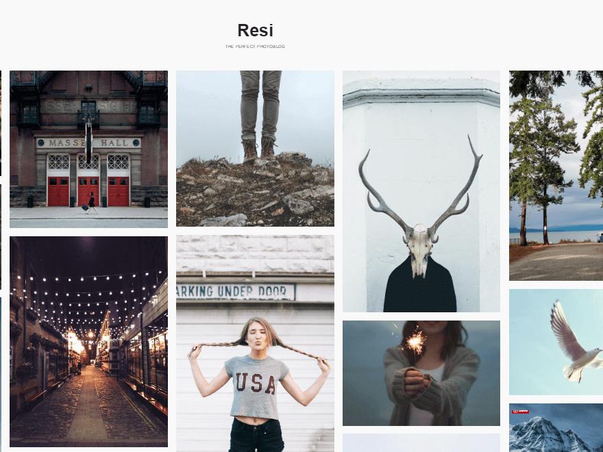 Resi - 25+ Best Free Photography WordPress Themes & Templates 2020