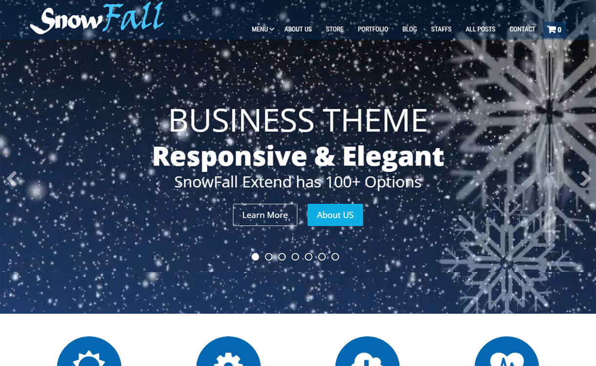 snowfall-free-WordPress-theme