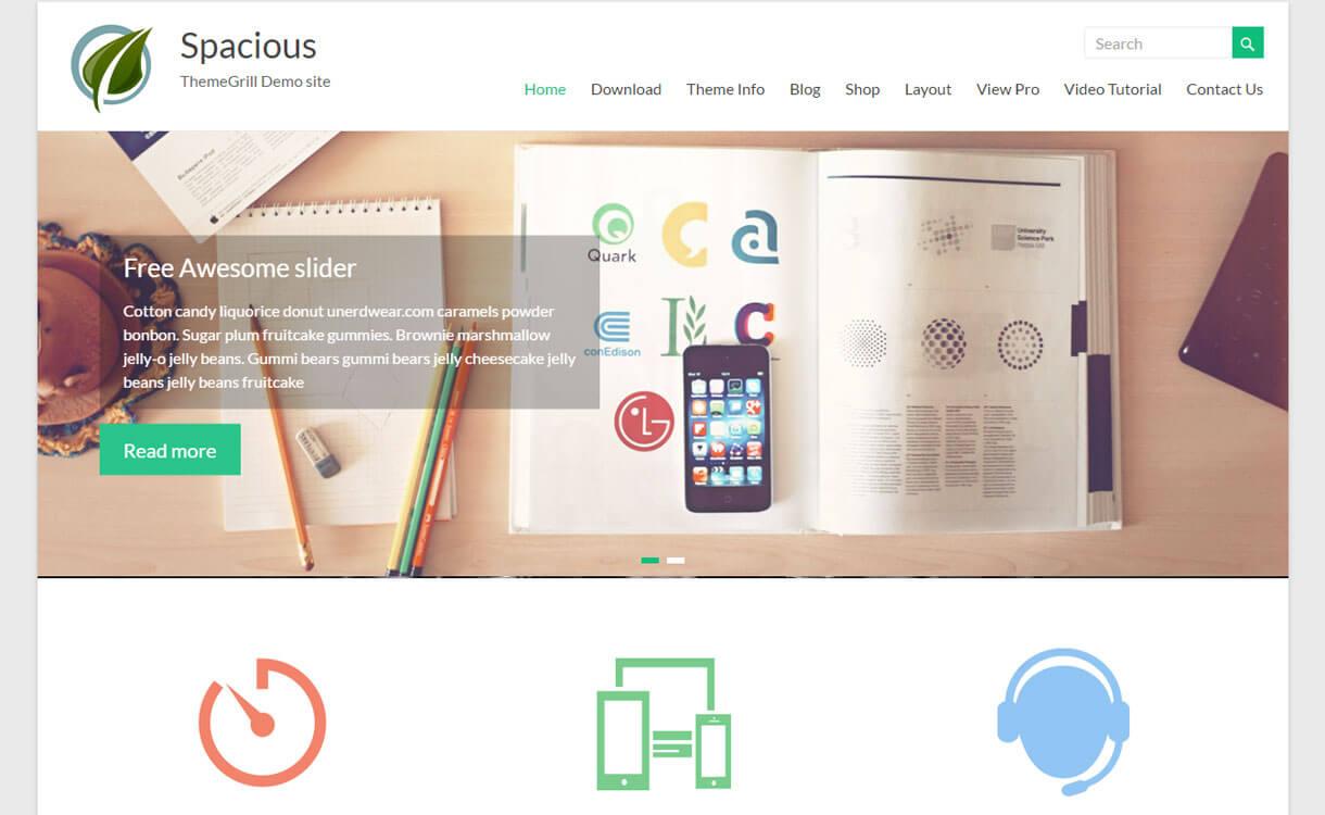 Spacious - 50+ Best Free Responsive WordPress Themes 2020