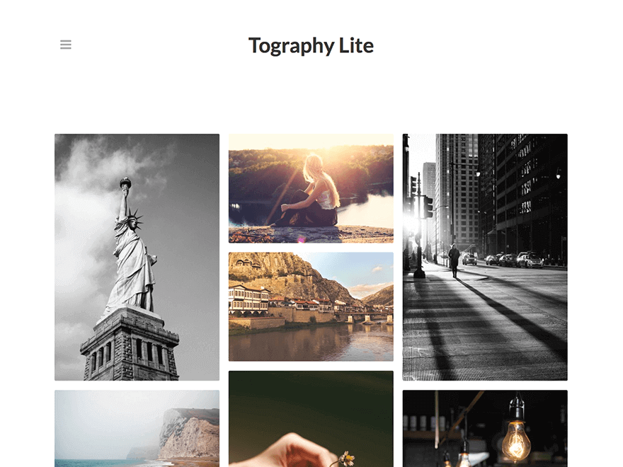 Tography lite - 25+ Best Free Photography WordPress Themes & Templates 2020