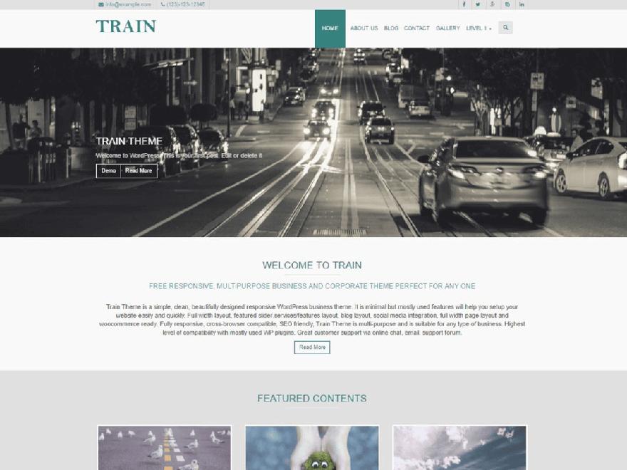 Train - 11+ Best Free Responsive WordPress Themes August 2016 - WPAll