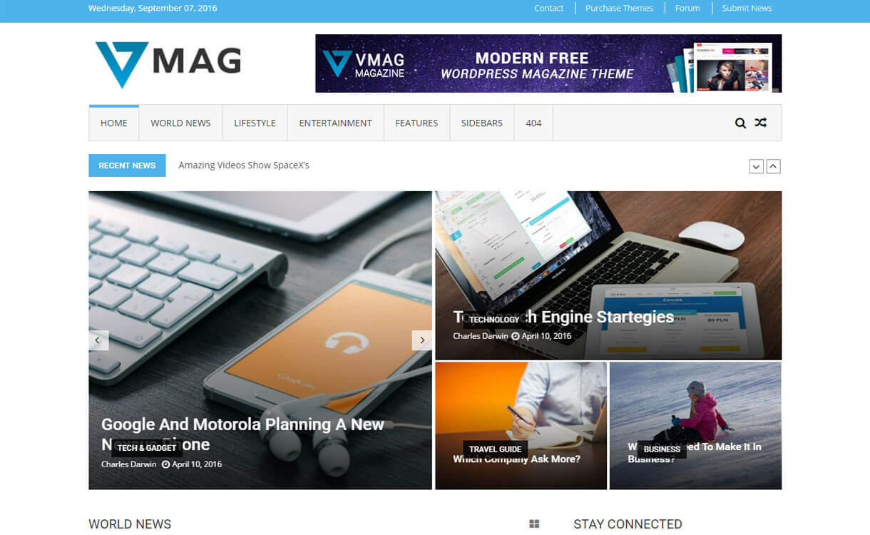 Vmag - Best Free Adsense WordPress Themes