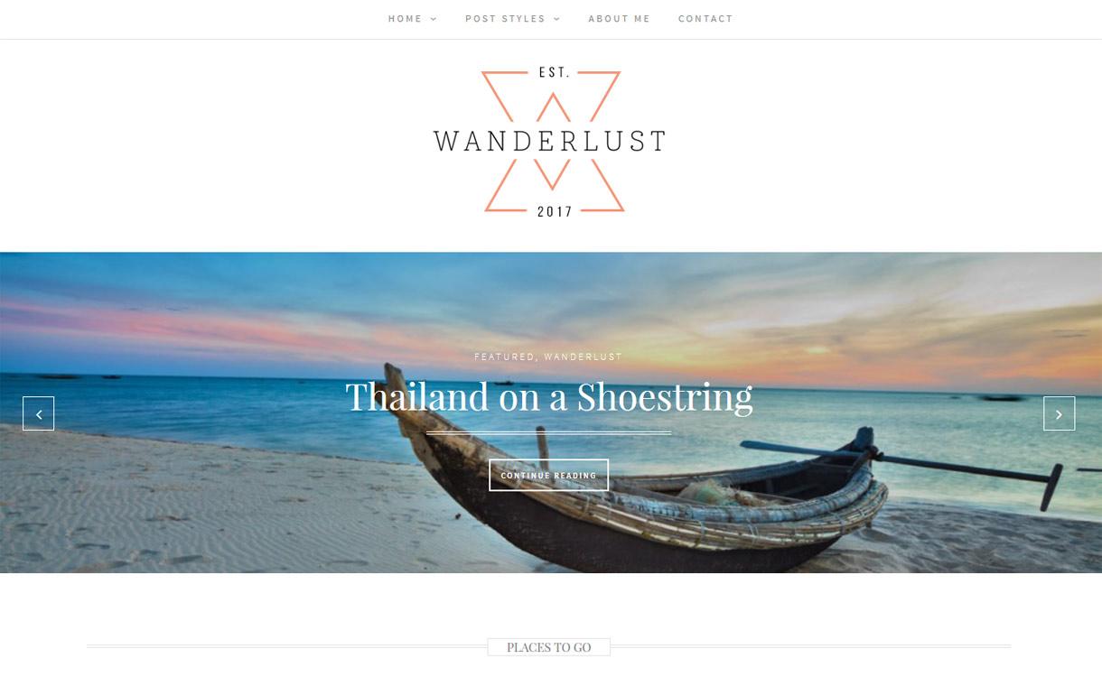 Wanderlust - 25+ Best Free Photography WordPress Themes & Templates 2020