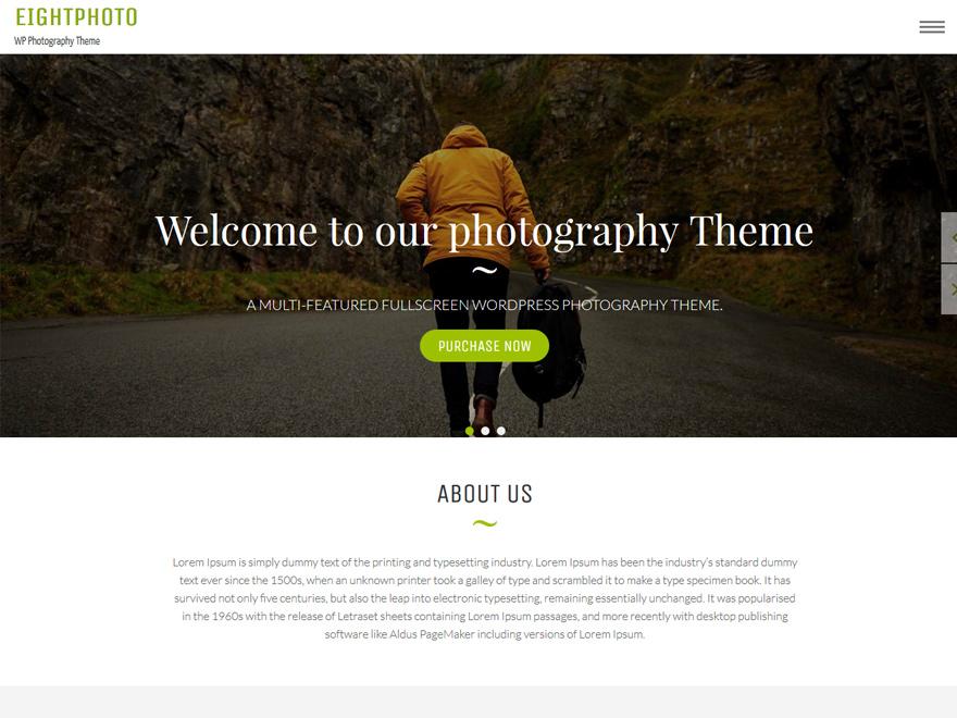 eightphoto - 25+ Best Free Photography WordPress Themes & Templates 2020