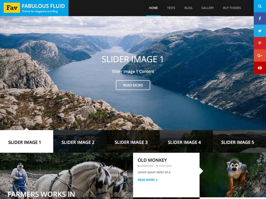 fabulous fluid - 11+ Best Free Responsive WordPress Themes August 2016 - WPAll