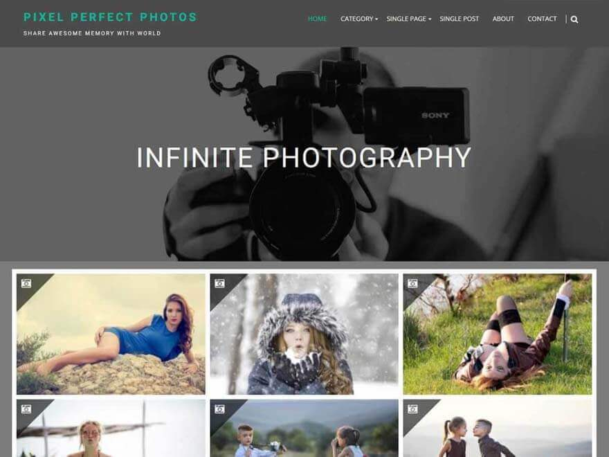 infinite photography - 23+ Best Free Photography WordPress Themes & Templates 2019