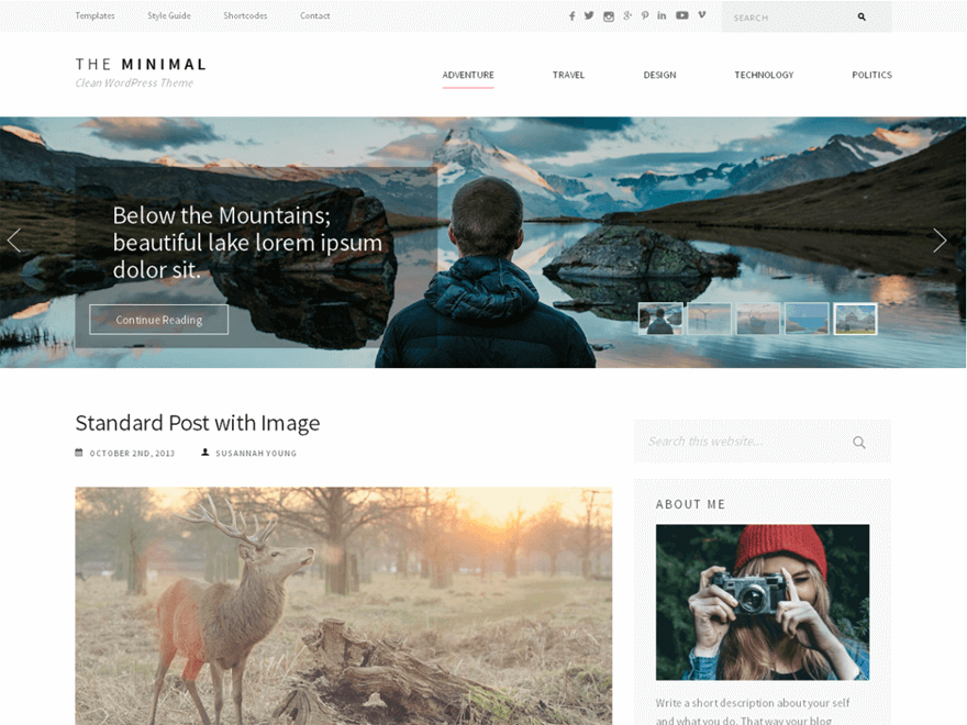 the minimal - 25+ Best Free Photography WordPress Themes & Templates 2020