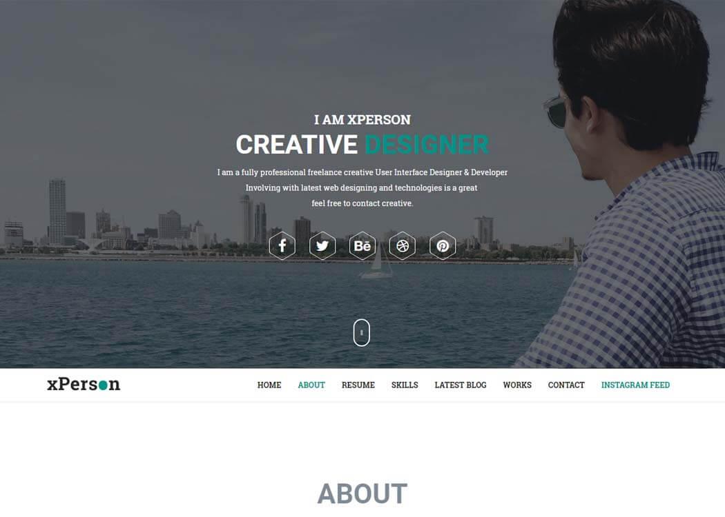 xPerson Premium WP Portfolio Theme - 35+ Best Premium WordPress Themes and Templates 2020[UPDATED]