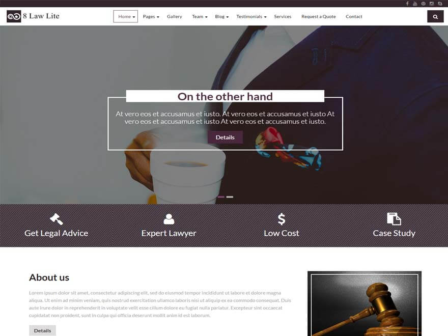 8 Law Lite - 11+ Best Free Responsive WordPress Themes September 2016