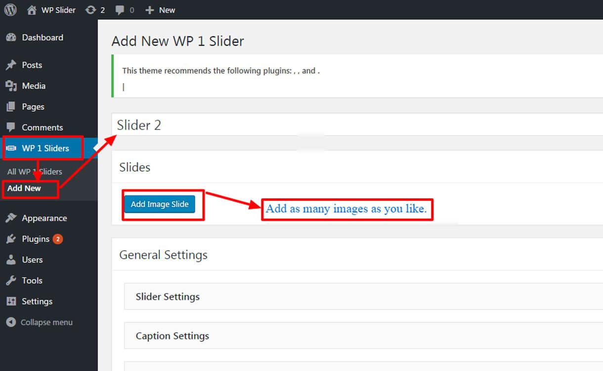 Add unlimited slider 1 - Best Free Responsive WordPress Slider Plugin 2020- WP 1 Slider