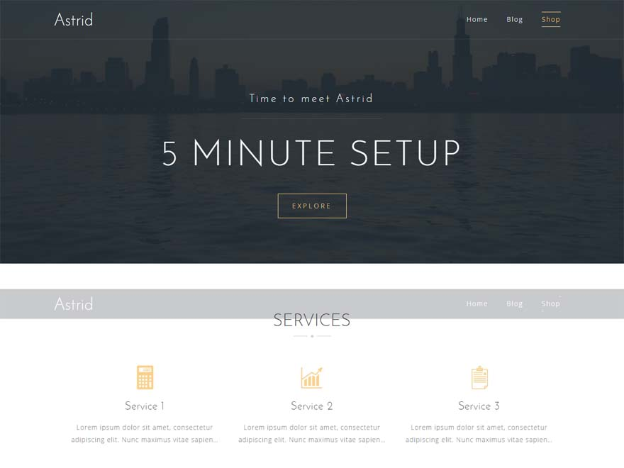 Astrid - Best free WordPress Theme September 2016