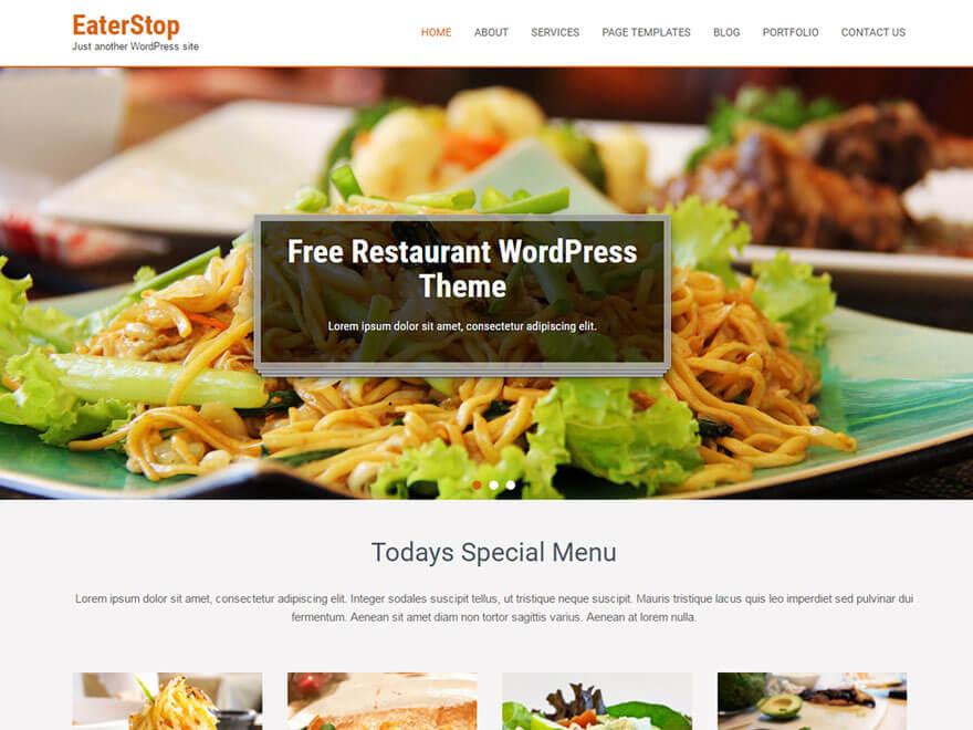 EaterStop 1 - 11+ Best Free Responsive WordPress Themes September 2016