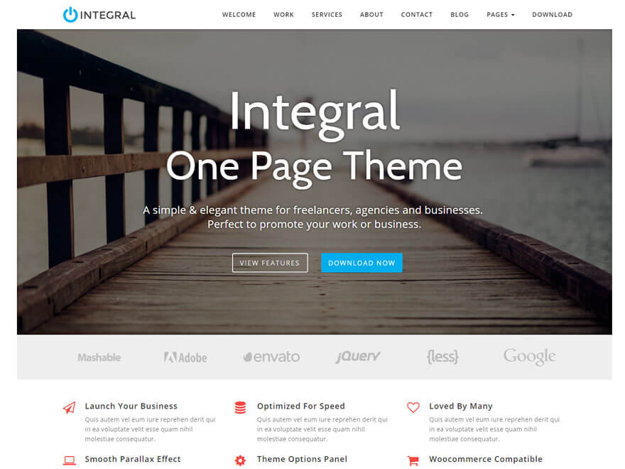 Integral Free WordPress T - 11+ Best Free Responsive WordPress Themes September 2016