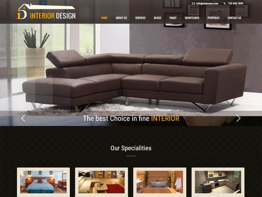 Interior Design - 11+ Best Free Responsive WordPress Themes September 2016