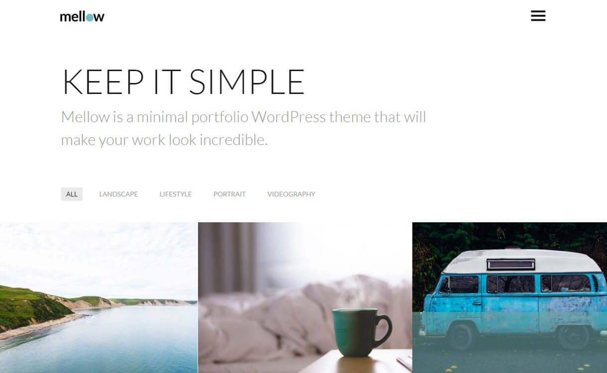 Mellow : Premium WordPress Portfolio Theme
