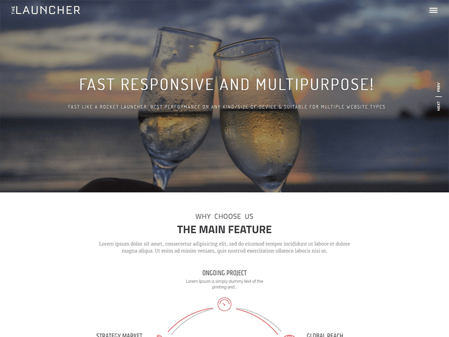 The Launcher - Best free WordPress Theme September 2016