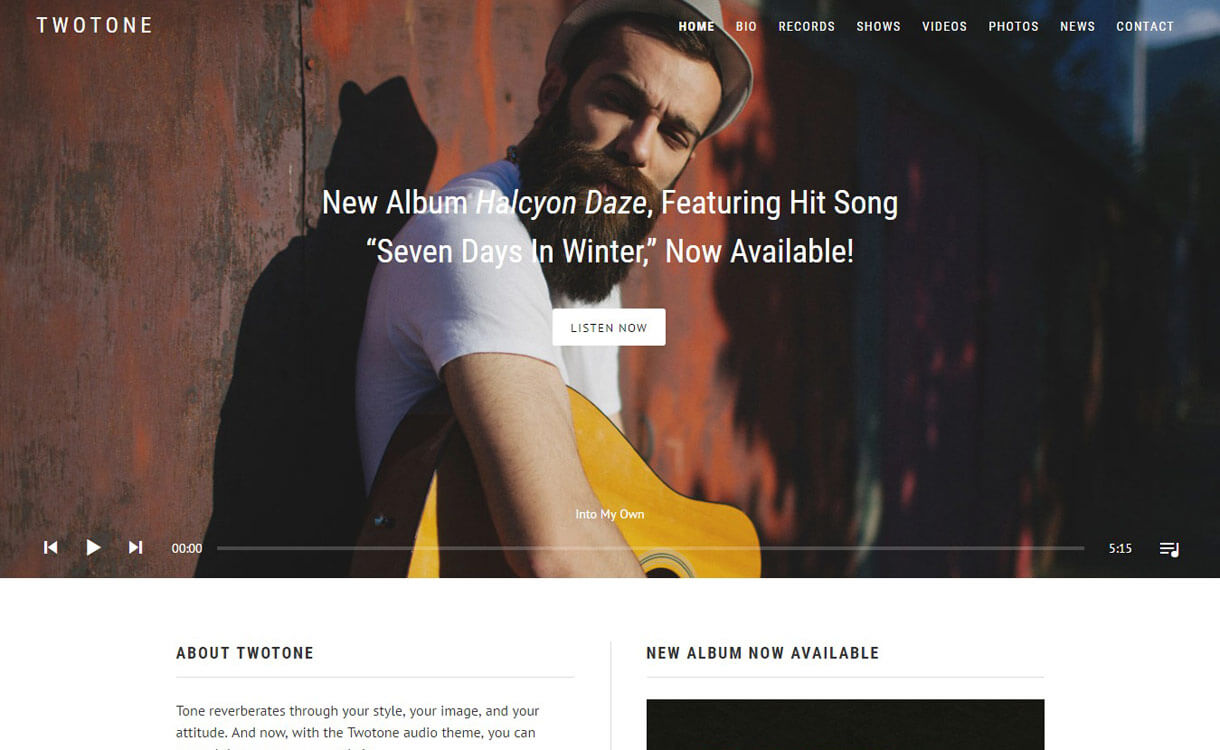 TwoTone : Premium WordPress Music Theme
