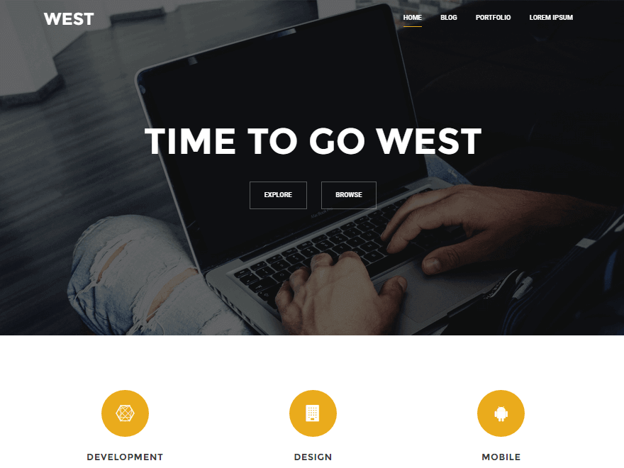 West - 30+ Best Free WordPress Landing Page Themes and Templates 2019
