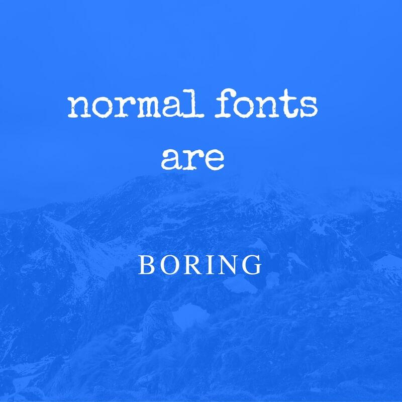normal-fonts
